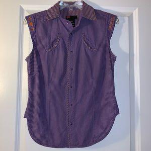 """Super cute Diesel purple """"western"""" shirt"""